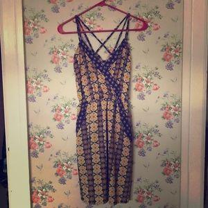 Boho pattern dress.